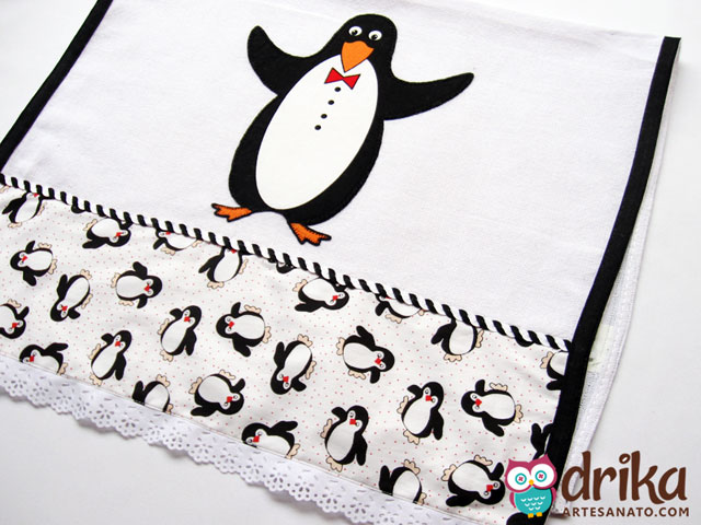 Pinguim em Patch Aplique