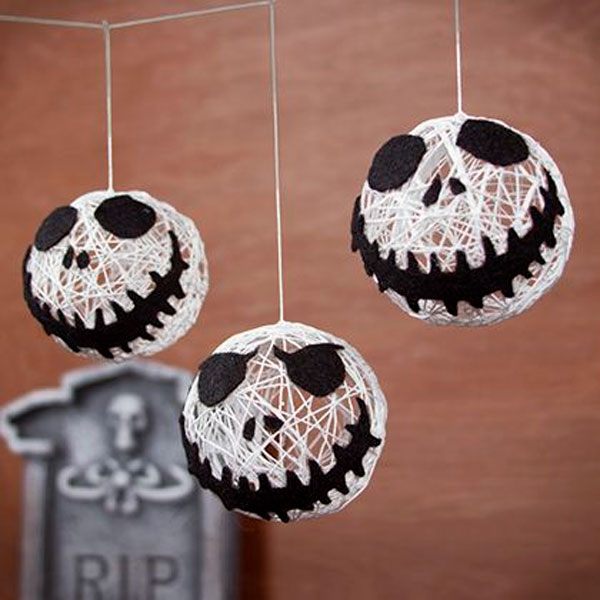 Enfeite suspenso do Jack Skellington