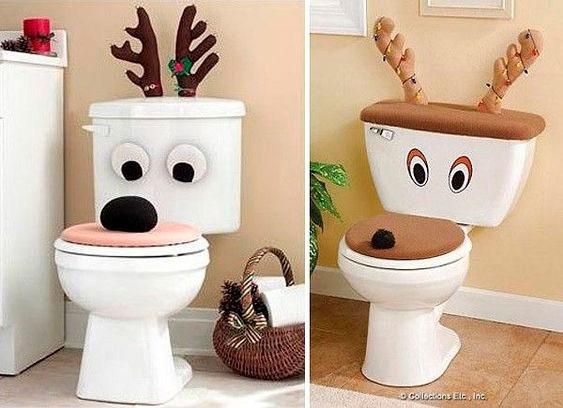 Enfeites natalinos para banheiro