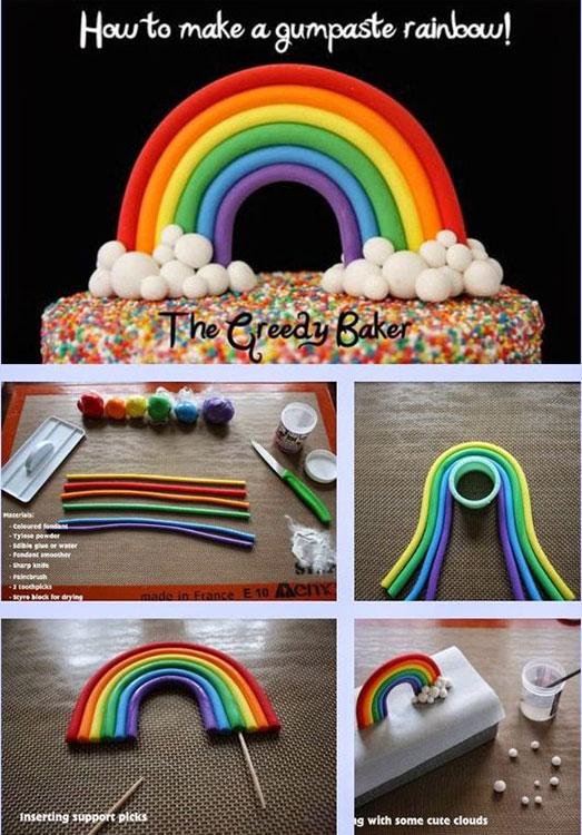 Como fazer um topo de bolo chuva de amor