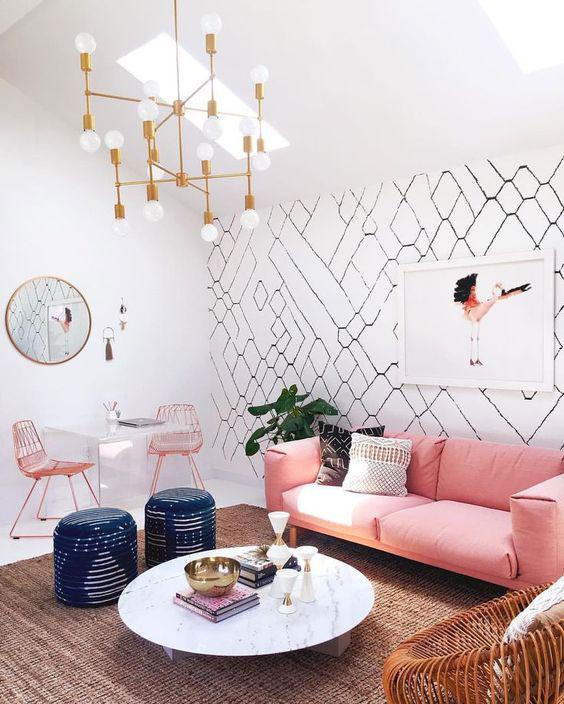 Como Decorar Uma Sala: Destaque com o papel de parede