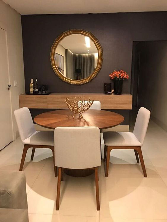 Espelho para Sala de Jantar: Espelho redondo