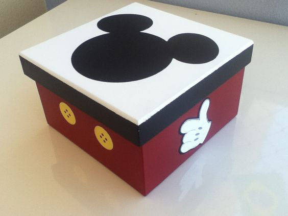 Caixa de MDF Decorada: Mickey