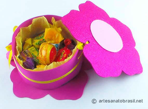 Caixa de flor para sua mãe