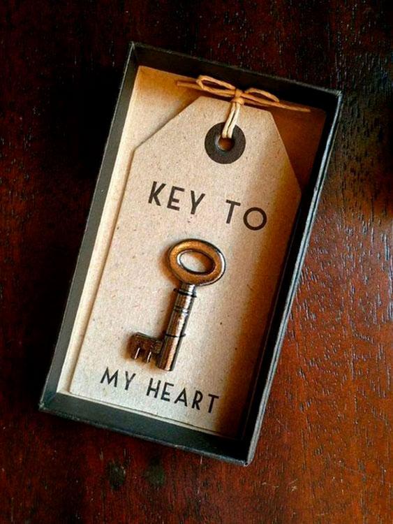 Presente para o Dia dos Namorados: Chave do coração