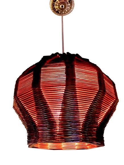 Artesanato Com Palito de Picolé: Luminária pendente