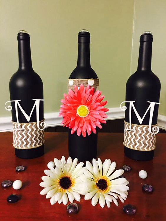 Use garrafas estilizadas