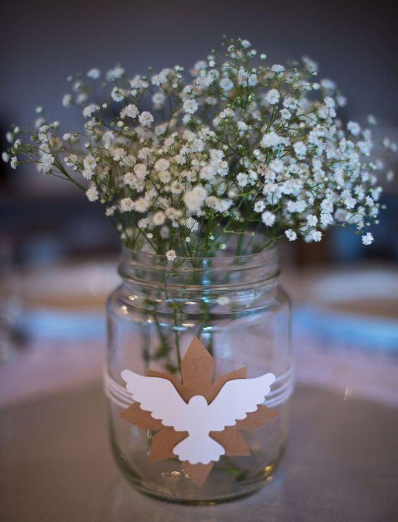 Decoração de Batizado: Vasinho para centro de mesa