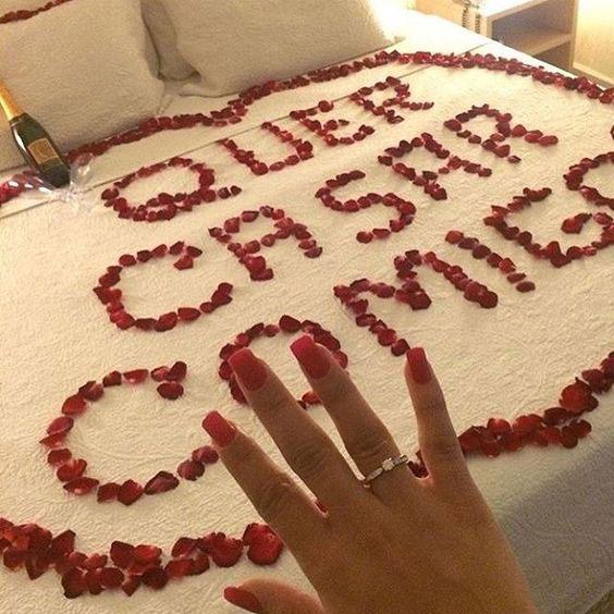 Aproveite para pedir ela em casamento