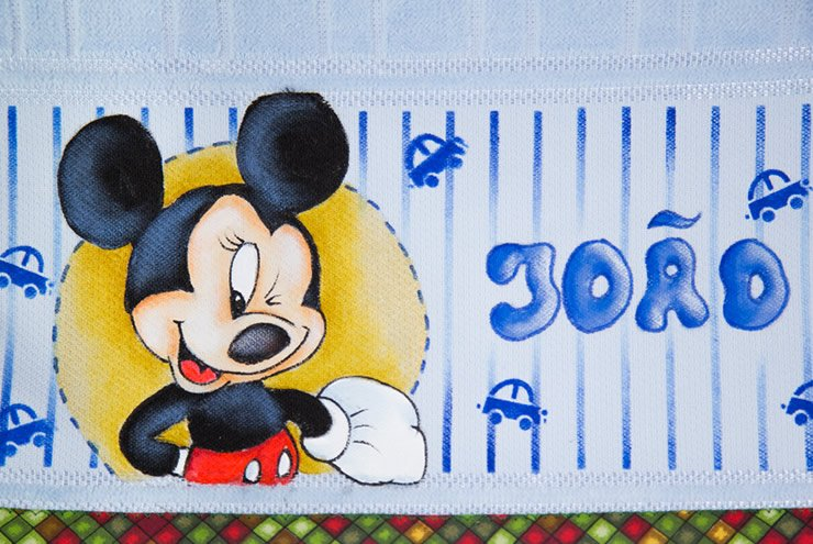 Pintura infantil do Mickey com nome