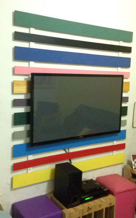 Painel colorido