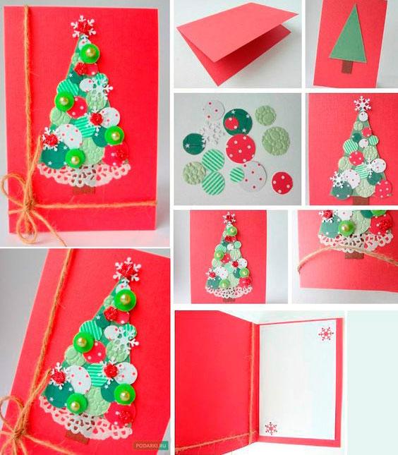 Cartão de Natal com círculos