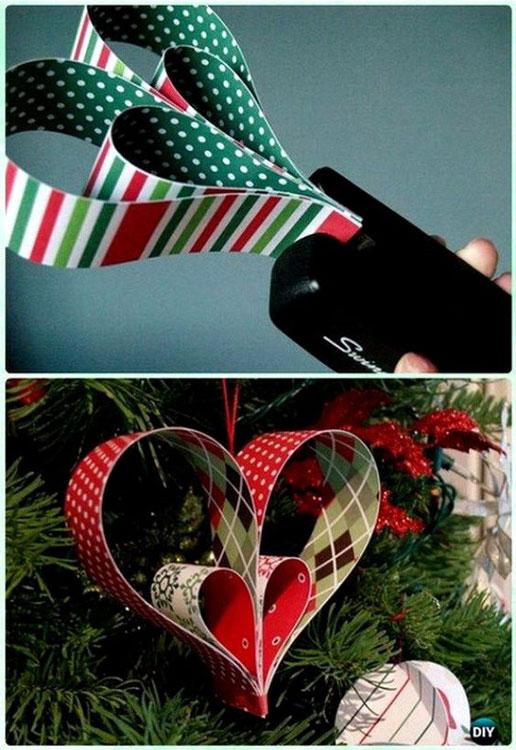 Enfeite de Natal de papel