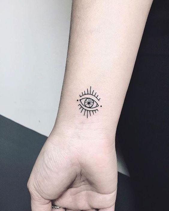 Tatuagens no pulso de olho