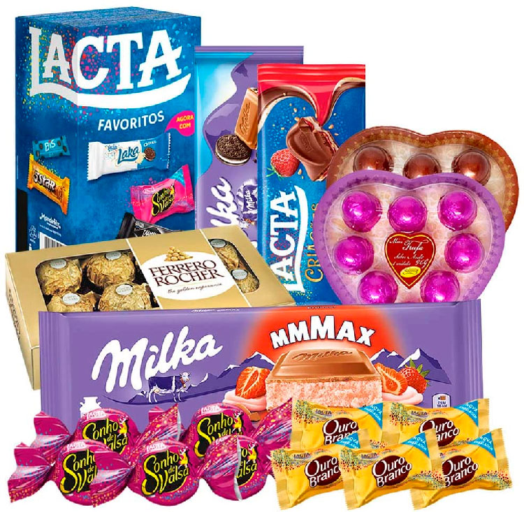 Kit com chocolates sortidos