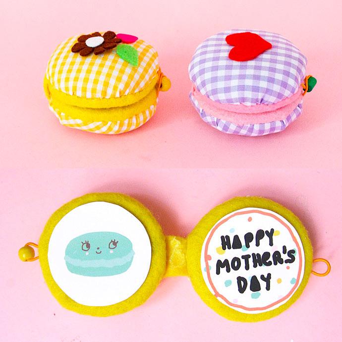 Cartão para o Dia das Mães de macarons