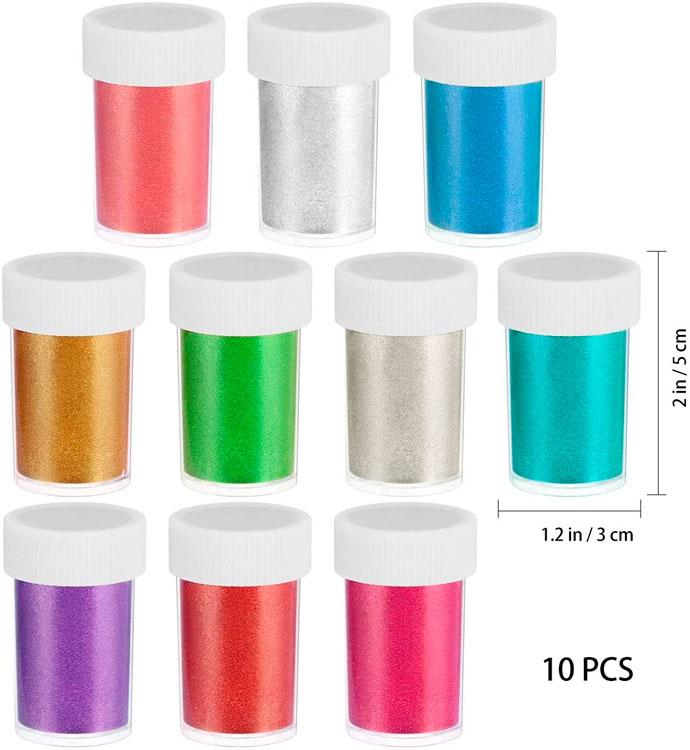 Conjunto de 10 peças de pigmentos em pó para sabonete