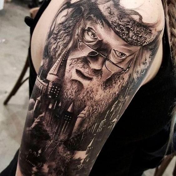 Tatuagem Dumbledore