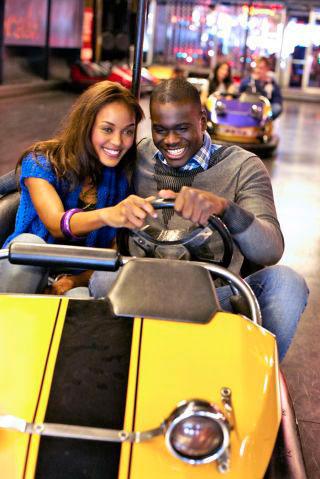 Parque de diversões com a namorada