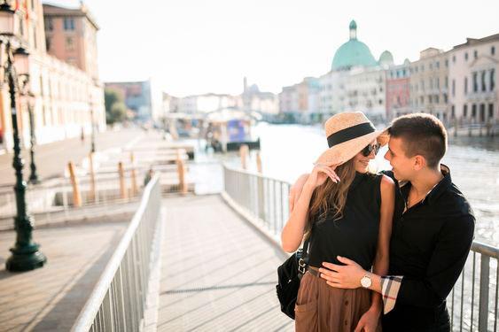 Viagem romântica com seu amor