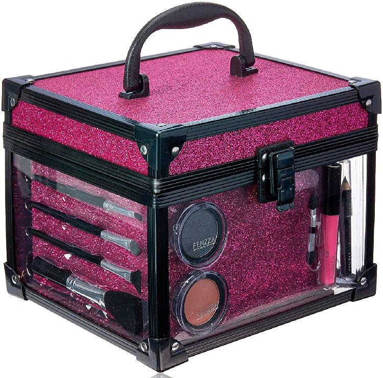 Maleta para Maquiagem Clear Pink Make