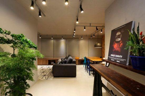 Decore a casa alugada com trilhos para a iluminação