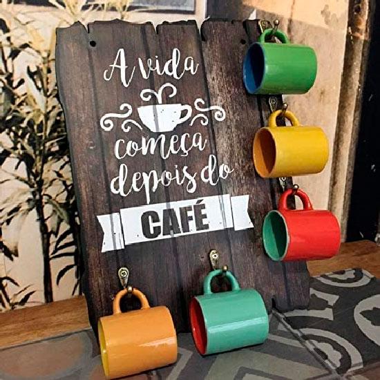 Placa porta caneca de café para presentear