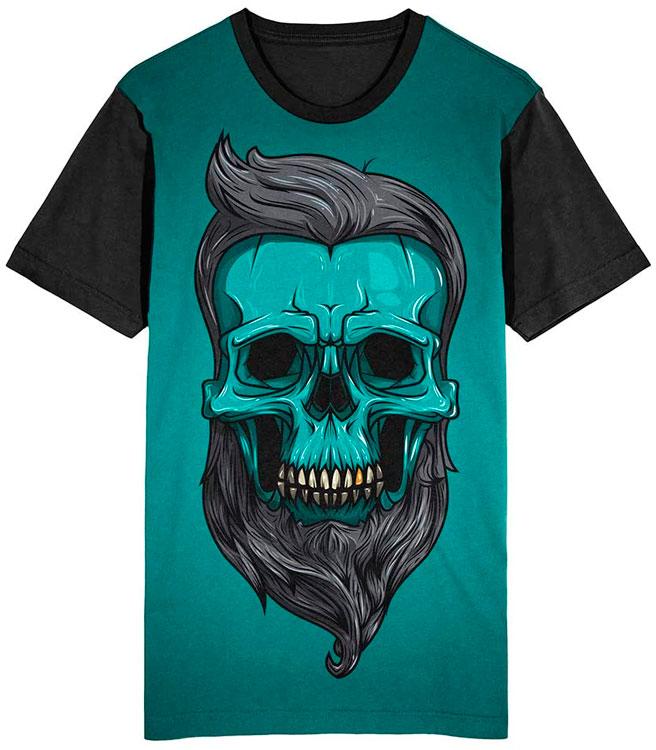 Camiseta Migian Caveira Barbeiro Sublimada