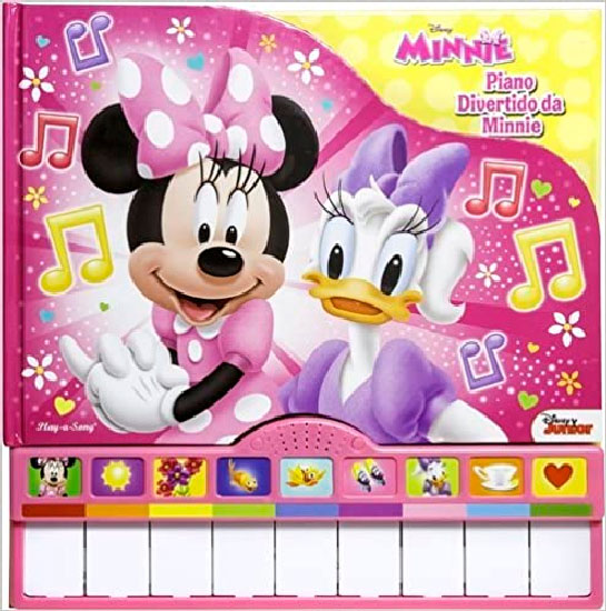 Livro Piano Divertido da Minnie