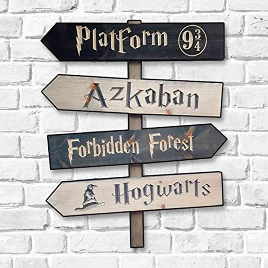 Placa decorativa em MDF do Harry Potter