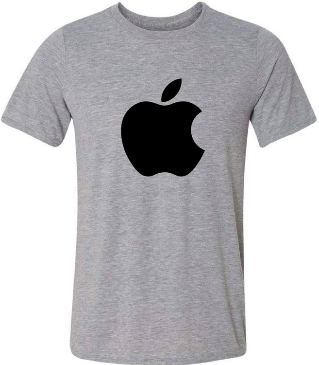 Camiseta com Logo da Apple