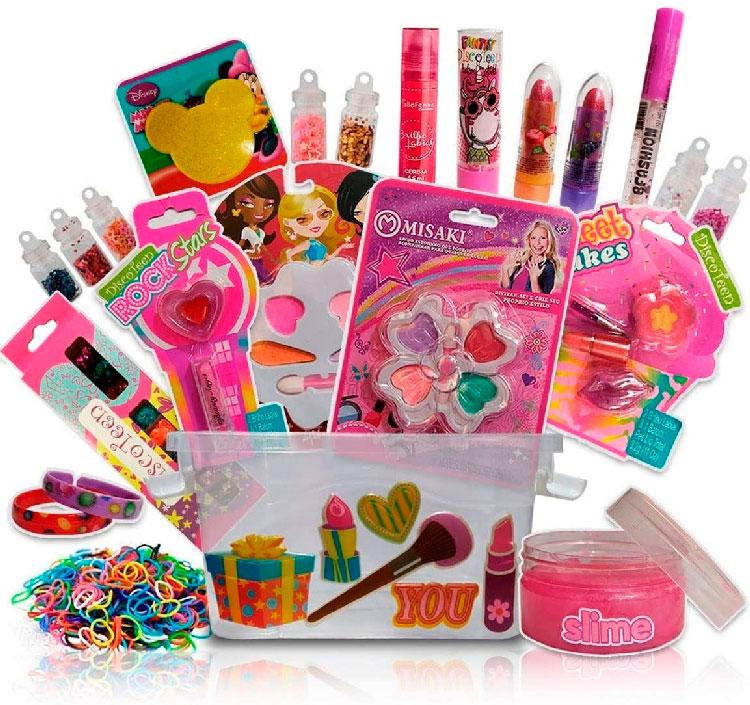 Kit de maquiagem infantil para meninas