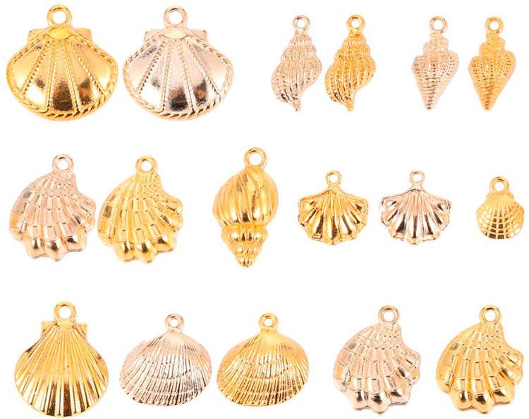 Material para fazer bijuterias: pingentes variados